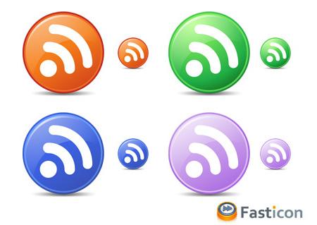 Circle Feeds Icons