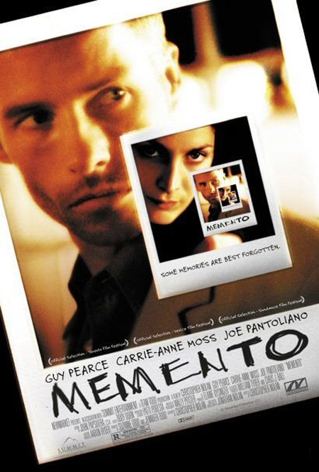 Image result for Memento (2000)   poster blogspot.com