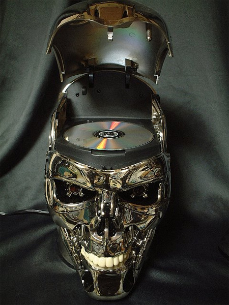 Terminator Skull DVD Player
