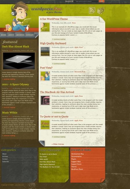 High Quality Free WordPress Themes 07