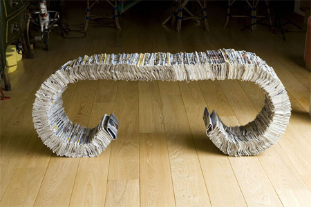 334 Newspaper Bench