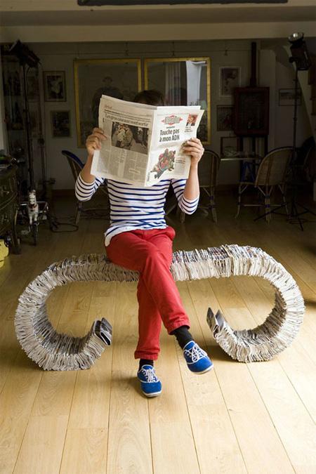 334 Newspaper Bench 2