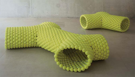 Tennis Ball Benches