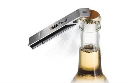 TrekStor USB Drive Bottle Opener