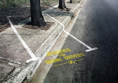 """Reserved for Drunk Drivers"" Advertisement"