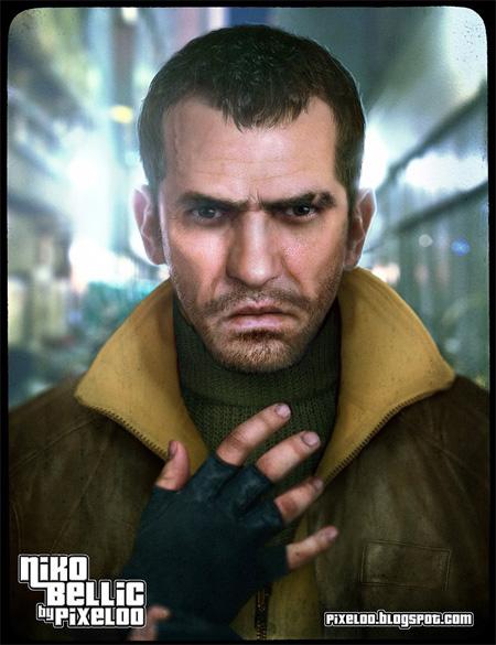 GTA IV Niko Bellic by pixeloo