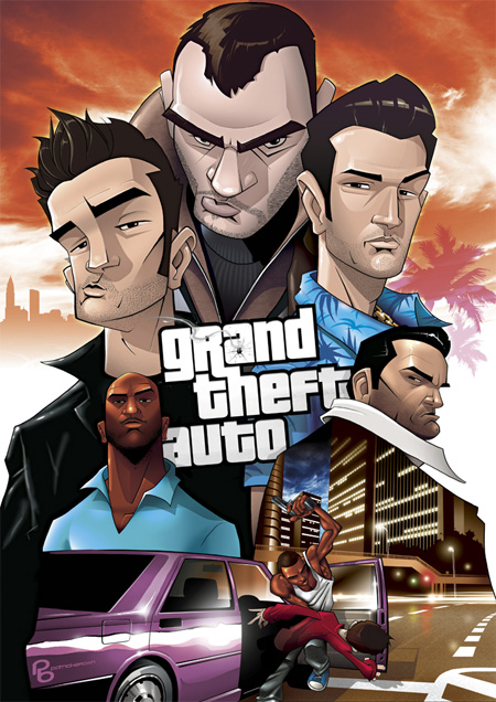 Grand Theft Auto LEGENDS by Patrick Brown