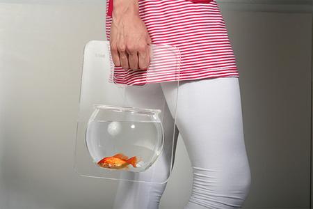 Portable Fishbowl by Michal Shabtiali