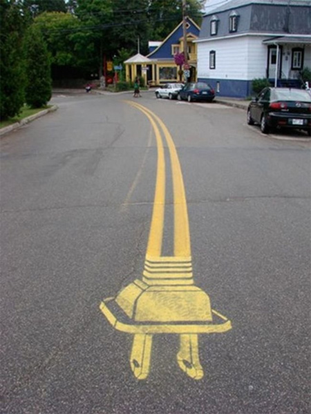 Pedestrian Street Art by Peter Gibson 3
