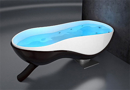 Foldable Spa Bath by Dominik Chojnacki