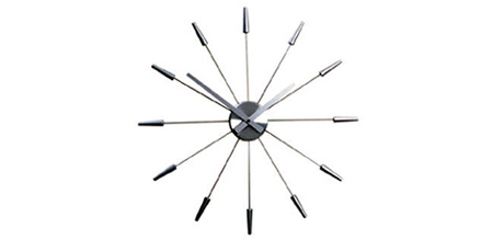 Silver Spike Clock