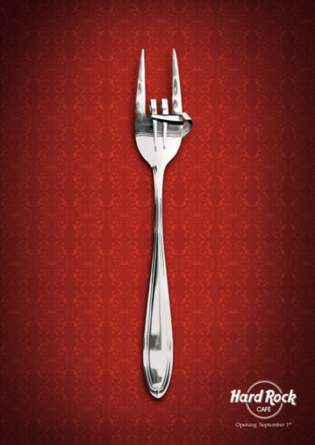 Hard Rock Cafe Advertisement