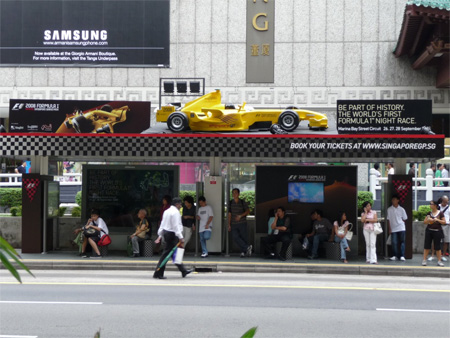 F1 Bus Stop Advertisement