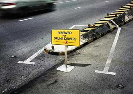 Reserved for Drunk Drivers Advertisements 2