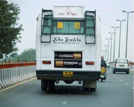 Duracell Bus Advertisement