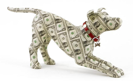 Money Sculptures by Justine Smith