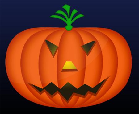 Halloween Pumpkin Photoshop Tutorial