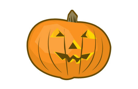 Draw Halloween Pumpkin in Photoshop