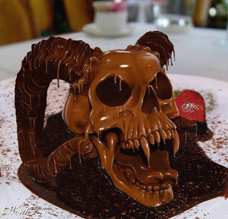 Chocolatized Skull Photoshop Tutorial