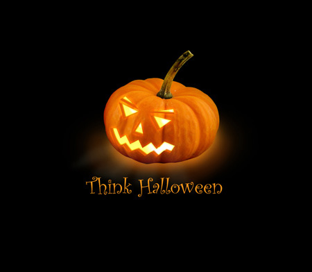 Halloween Pumpkin Background in Photoshop