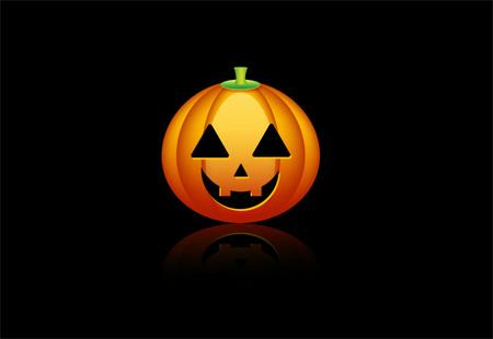 Halloween Pumpkin Wallpaper in Photoshop