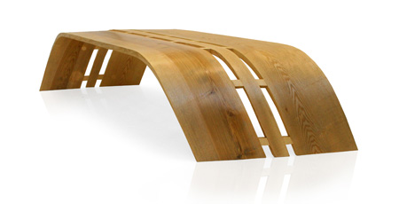 Twist Bench by Christopher Pett