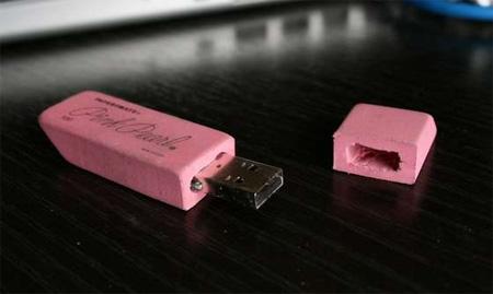 Pink Eraser USB Flash Drive