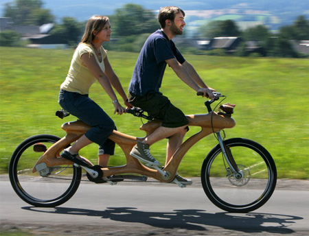 Bikes For Two Unique Wooden Bicycle