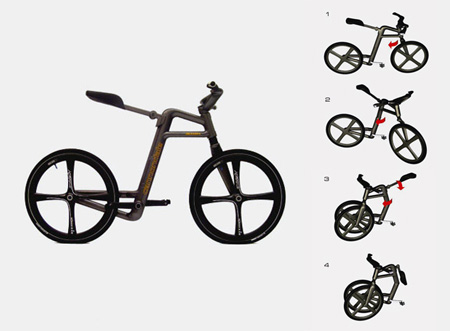 Bikes Without Chains Foldable Urban Bicycle Concept