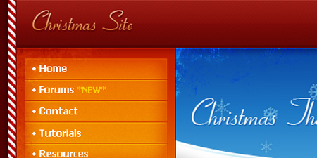 Christmas-Themed Web Layout Photoshop Tutorial