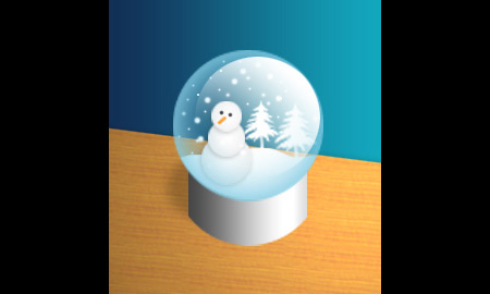 3D Snow Globe Photoshop Tutorial