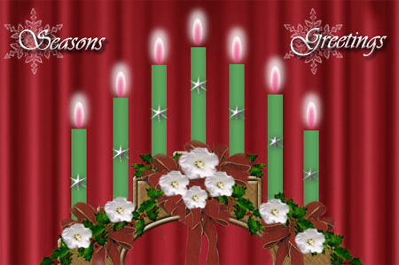 Christmas Candle Bridge Photoshop Tutorial