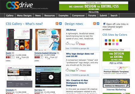 CSS Design Showcase Websites 01
