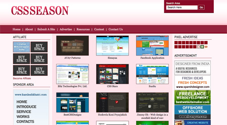 CSS Design Showcase Websites 14