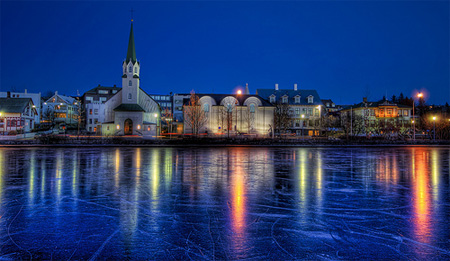 On Frozen Pond by Trey Ratcliff