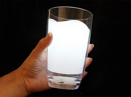 Creative Milk Glass LED Night Light Lamp