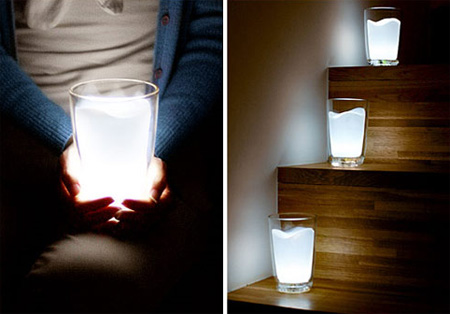 Creative Milk Glass LED Night Light Lamp 5