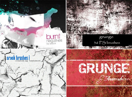 200+ Free Grunge Photoshop Brushes