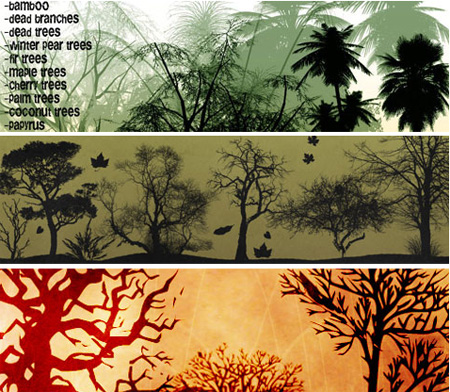 64 Beautiful and Free Nature Brush Sets and Vectors
