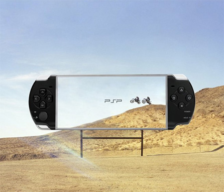 Transparent Billboards Promoting Sony PSP 2