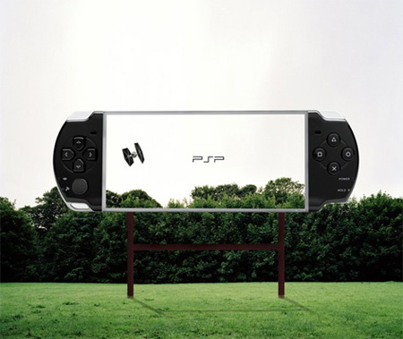 Transparent Billboards Promoting Sony PSP 3