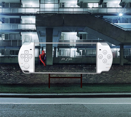 Transparent Billboards Promoting Sony PSP 5