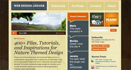 Beautiful WordPress Blog Designs 02