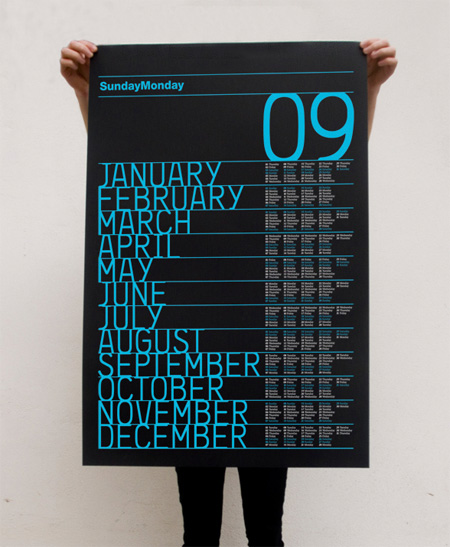 Unusual Calendar Design : Unusual and creative calendar designs