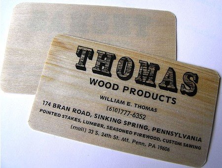 Thomas Wood Products Business Card