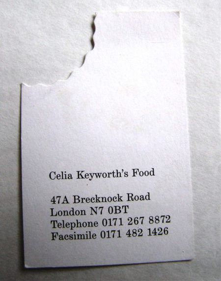 Celia Keyworths Food Business Card
