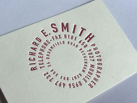 Richard E. Smith Business Card