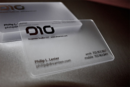 Dreamten Studios Business Card