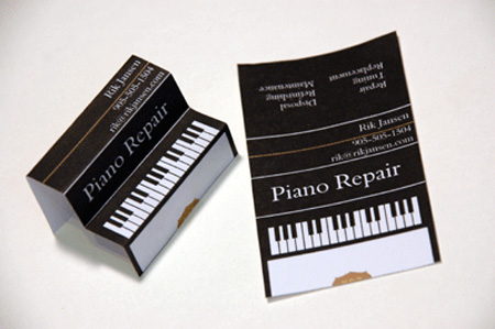 Piano Repair Business Card