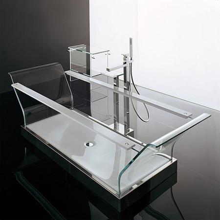 Novellini Cristalli Glass Bathtub